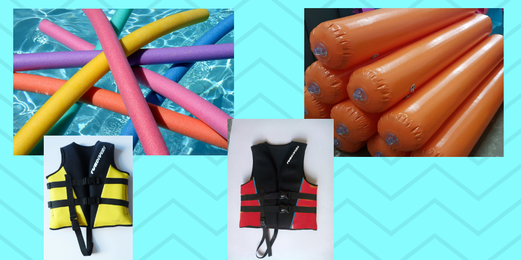 Swim noodle, buoy and life vest (4)
