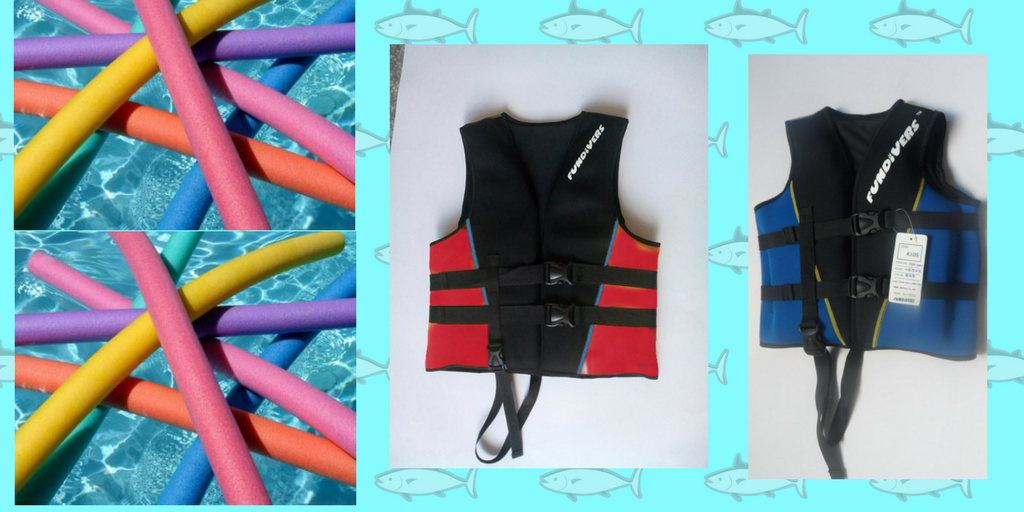 fundiver life vest and swimming noodle
